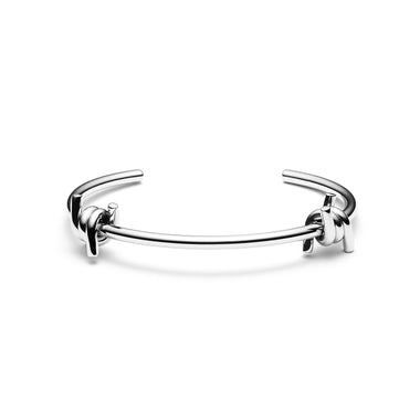 Double Barbed Cuff Silver