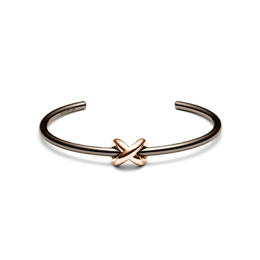 Knot Cuff Taupe + Rose Gold