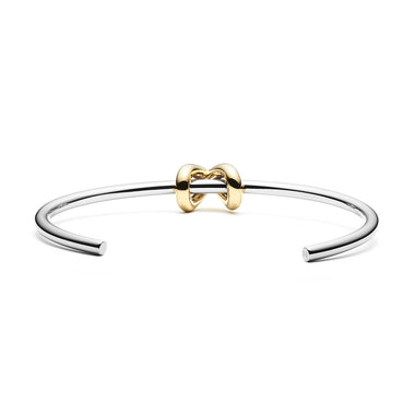 Knot Cuff Silver + Gold