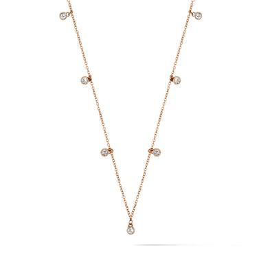 Crystal Charm Choker Rose Gold