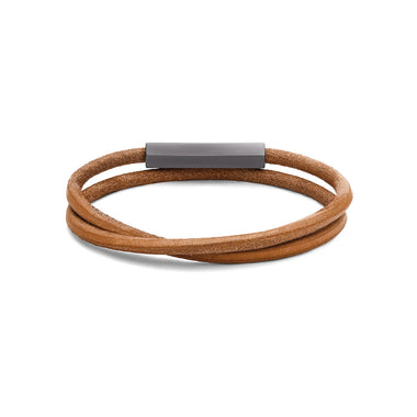 Double Leather Wrap Brown
